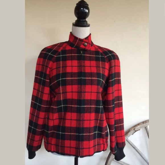 Pendleton Jackets & Blazers - PENDLETON Vtg Tartan Plaid Wool Bomber Jacket USA